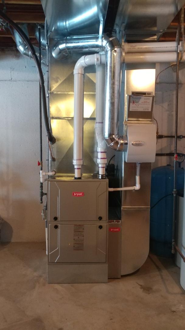 Commerce Charter Township, MI - Installed a 120 BTU 96% efficient Bryan furnace