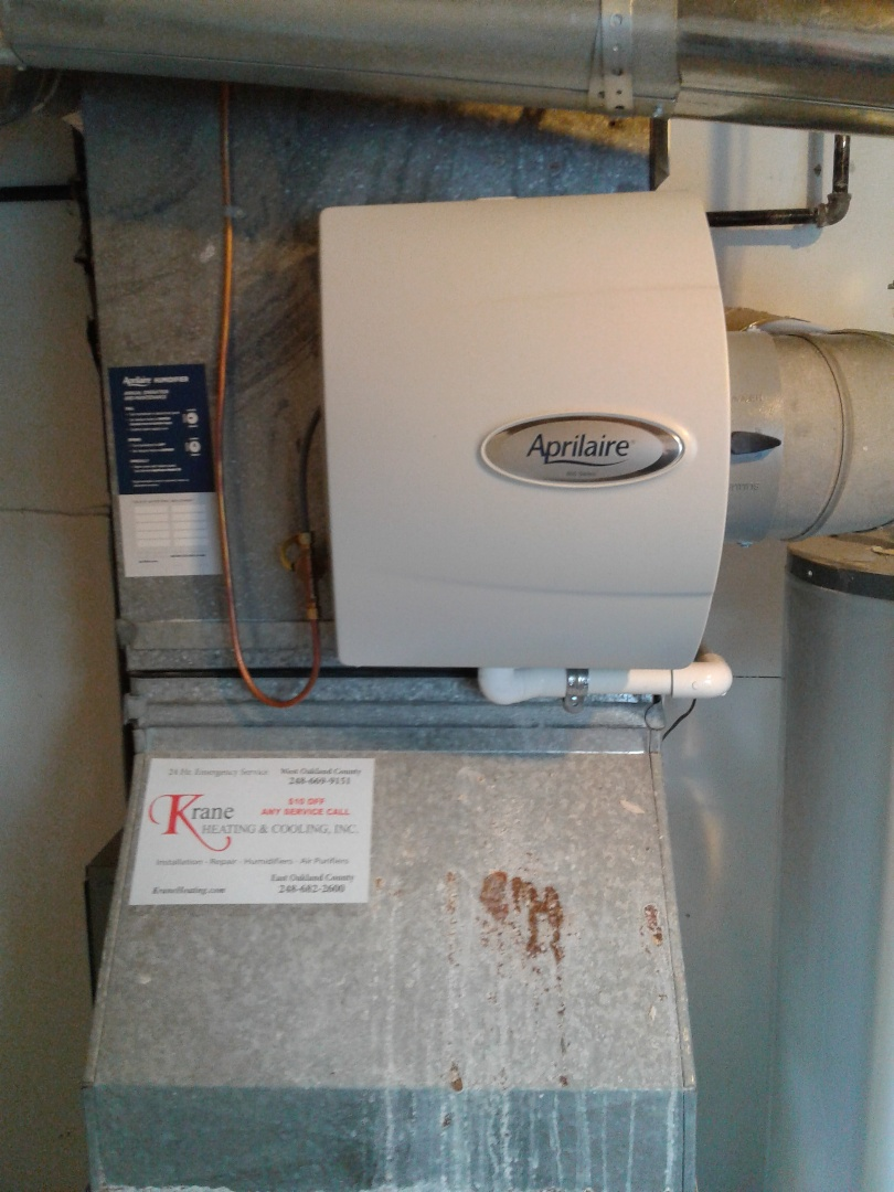 West Bloomfield Township, MI - Humidifier install