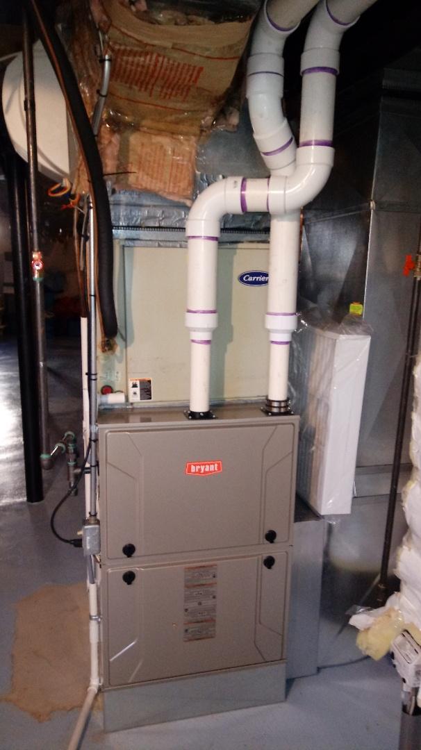 Farmington Hills, MI - Installed a Bryant 96% efficient furnace