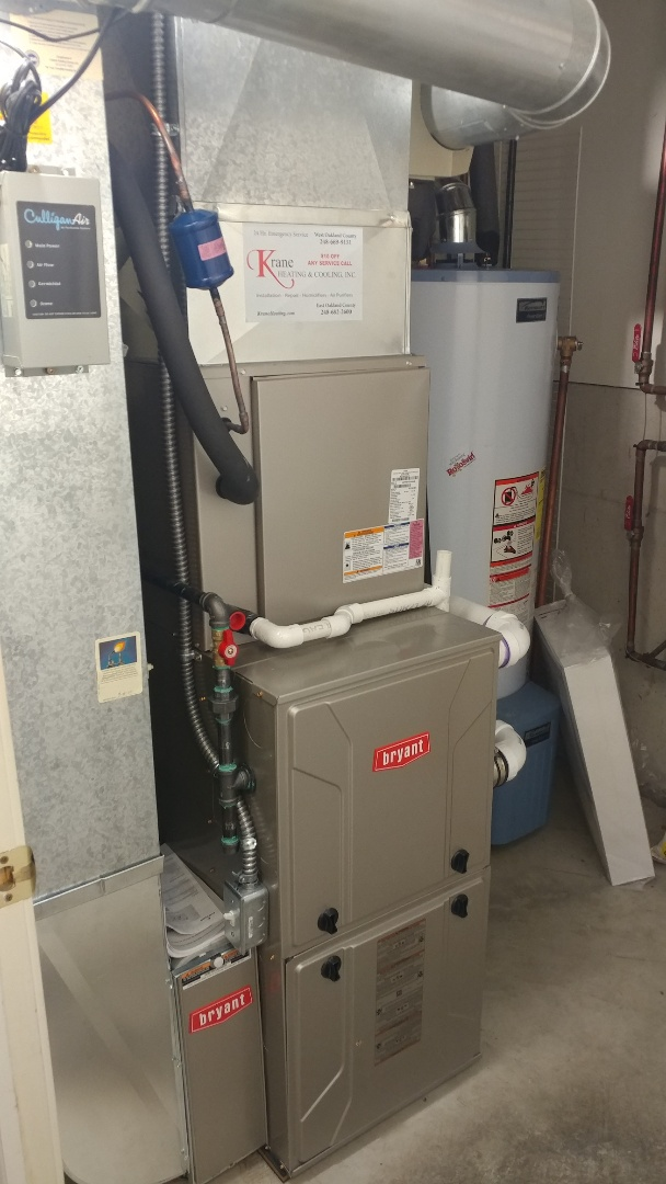 Installed a 96% Bryant furnace