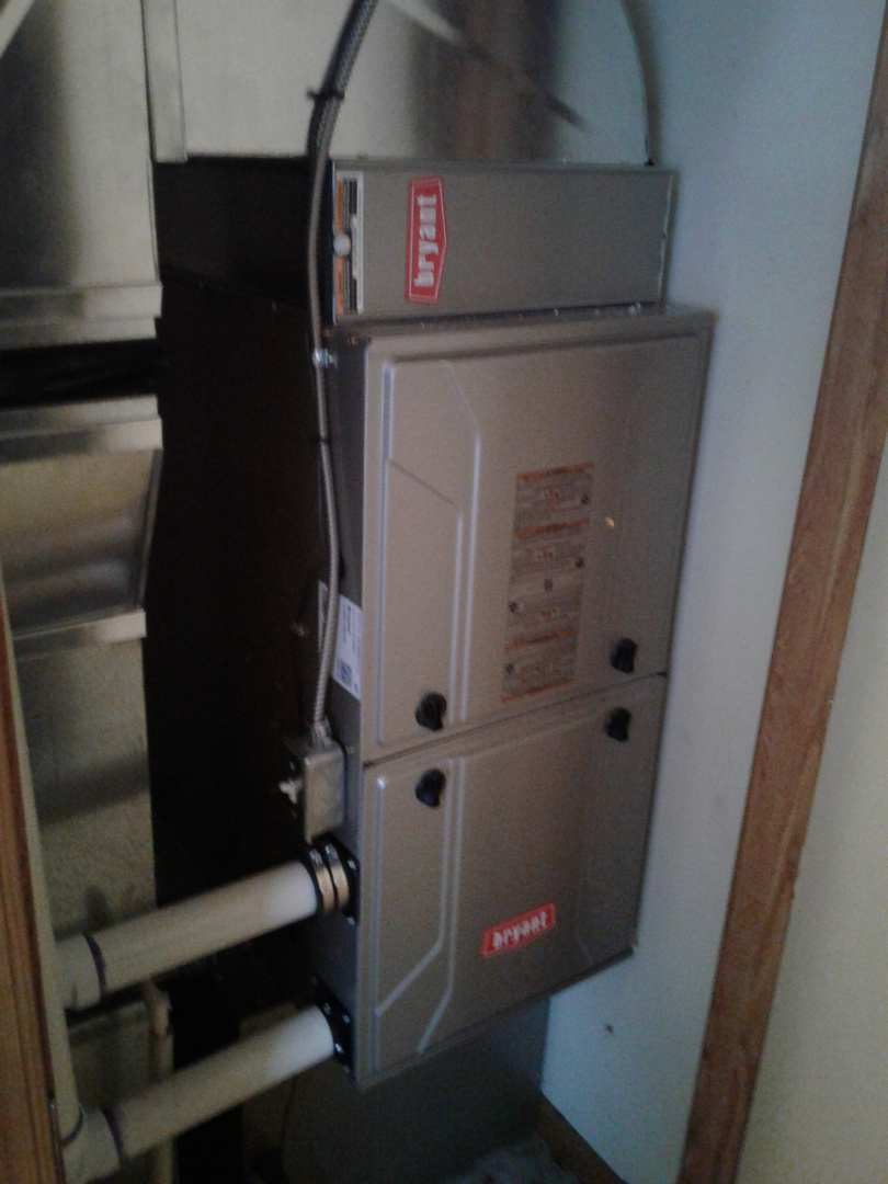 Milford Charter Township, MI - Furnace replacement in a closet