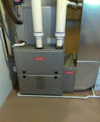 Installed a 96% efficient Bryant furnace and a 4-ton Bryant air conditioner