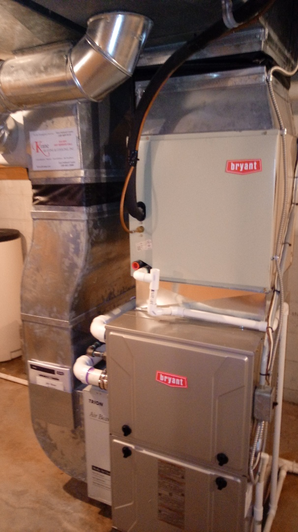 Installed a Bryant 96% efficient furnace