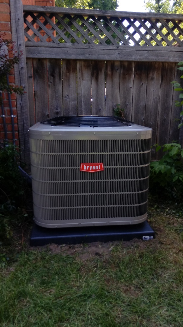 Birmingham, MI - Installed a Bryant air conditioning system