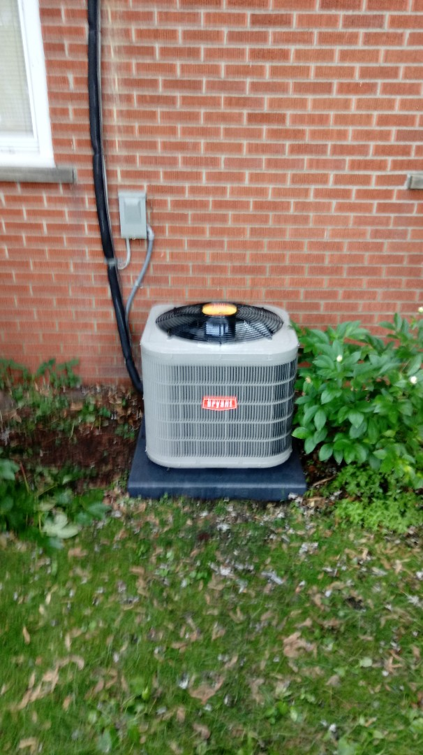 Commerce Charter Township, MI - Installed a Bryant air conditioning system