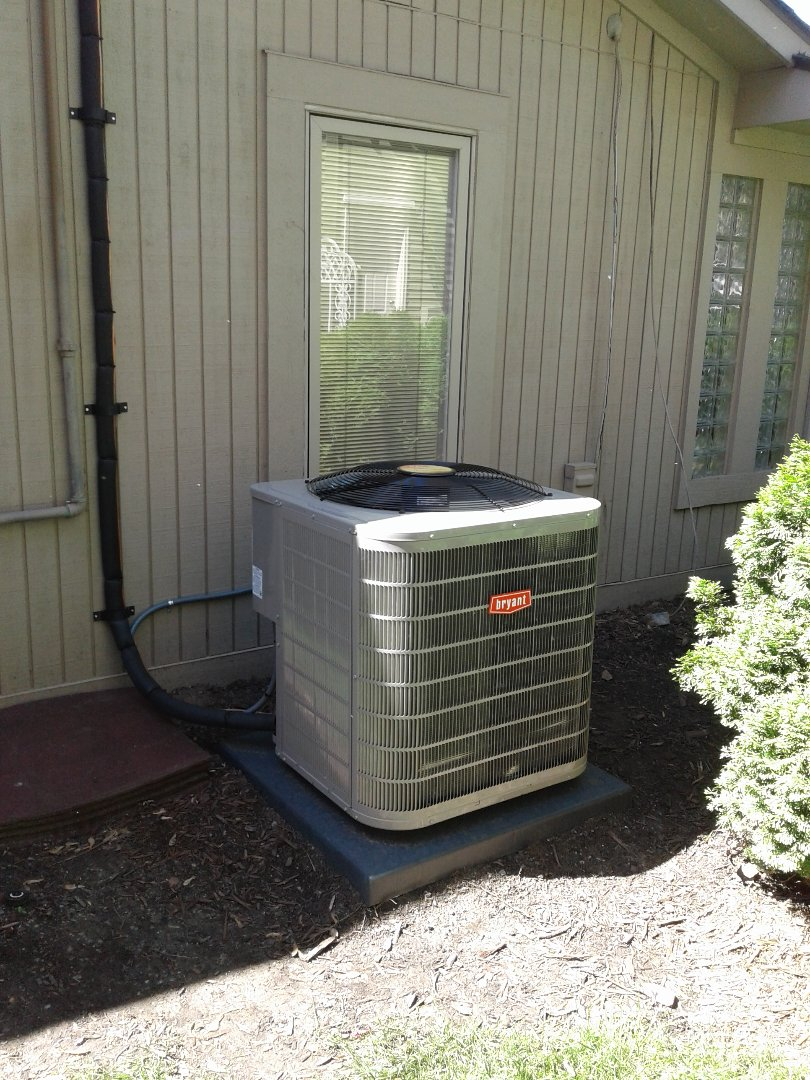 Keego Harbor, MI - A furnace and air conditioner replacement in an attic