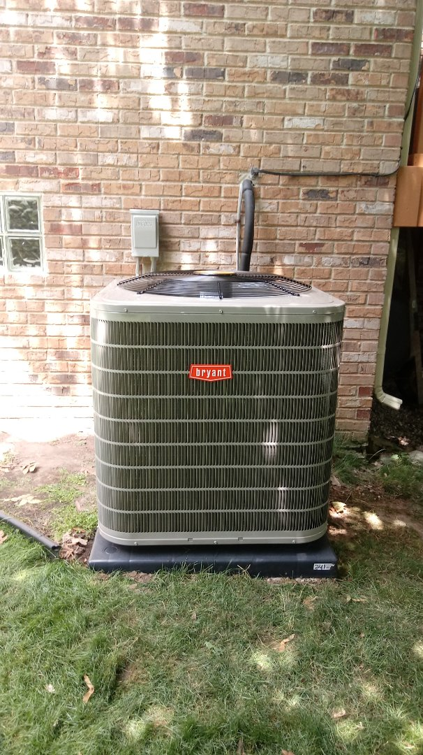 Troy, MI - Installed a Bryant two stage air conditioner