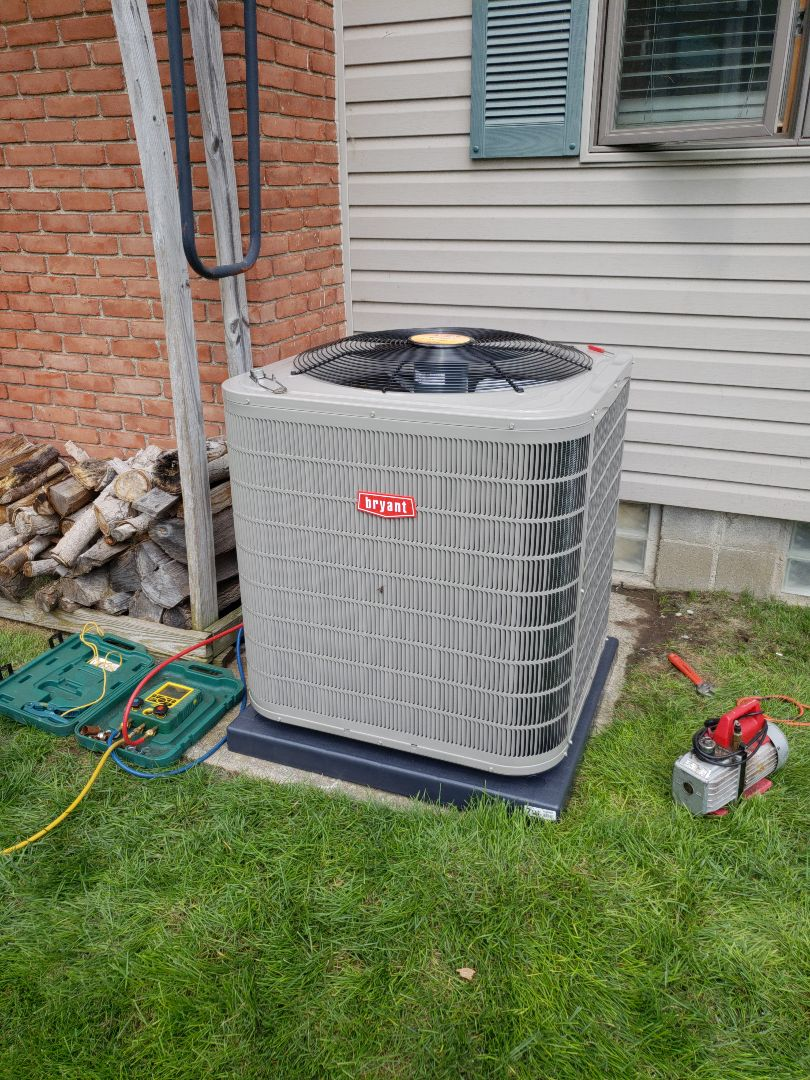 Oxford Charter Township, MI - Finished a 2-stage Bryant air conditioner