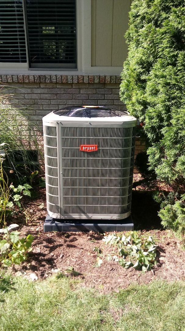 Wixom, MI - Installed a Bryant air conditioning system