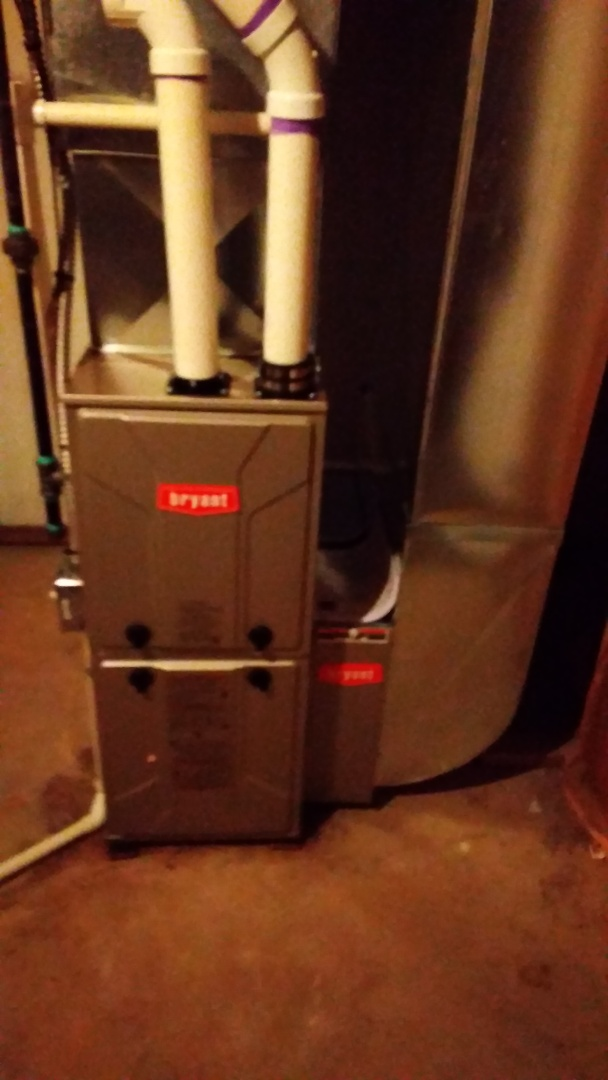 Walled Lake, MI - Installed a 60000 BTU Bryant furnace 90% efficient
