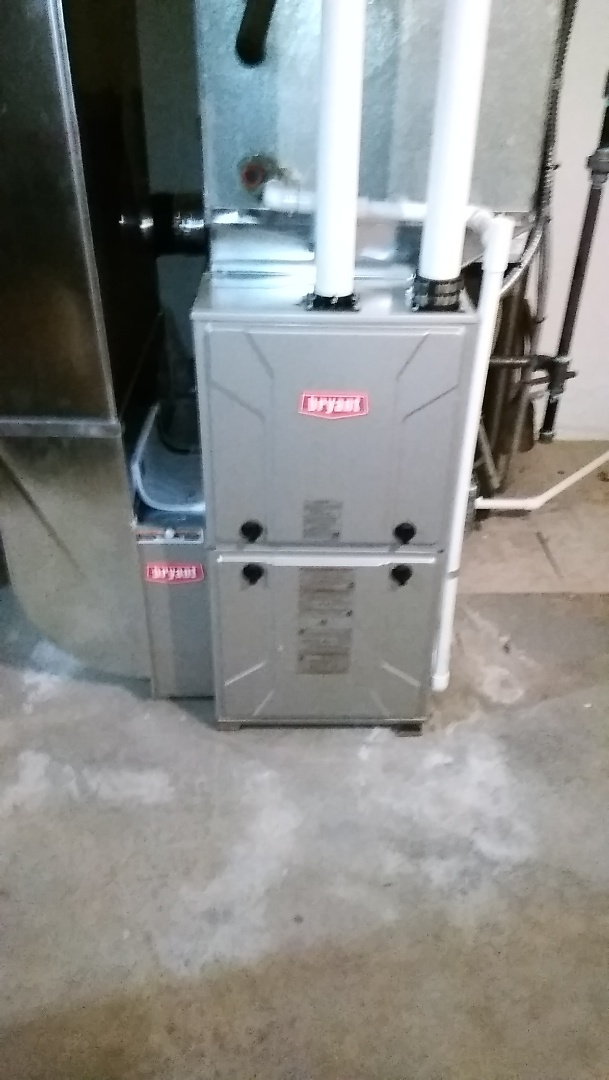 Springfield Township, MI - Installed an 80000 BTU Bryant furnace 90% efficient