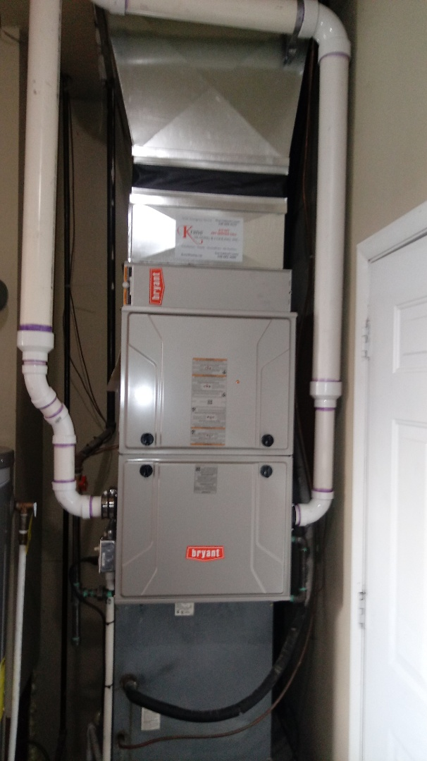 Farmington Hills, MI - Installed a Bryant 96% efficient furnace