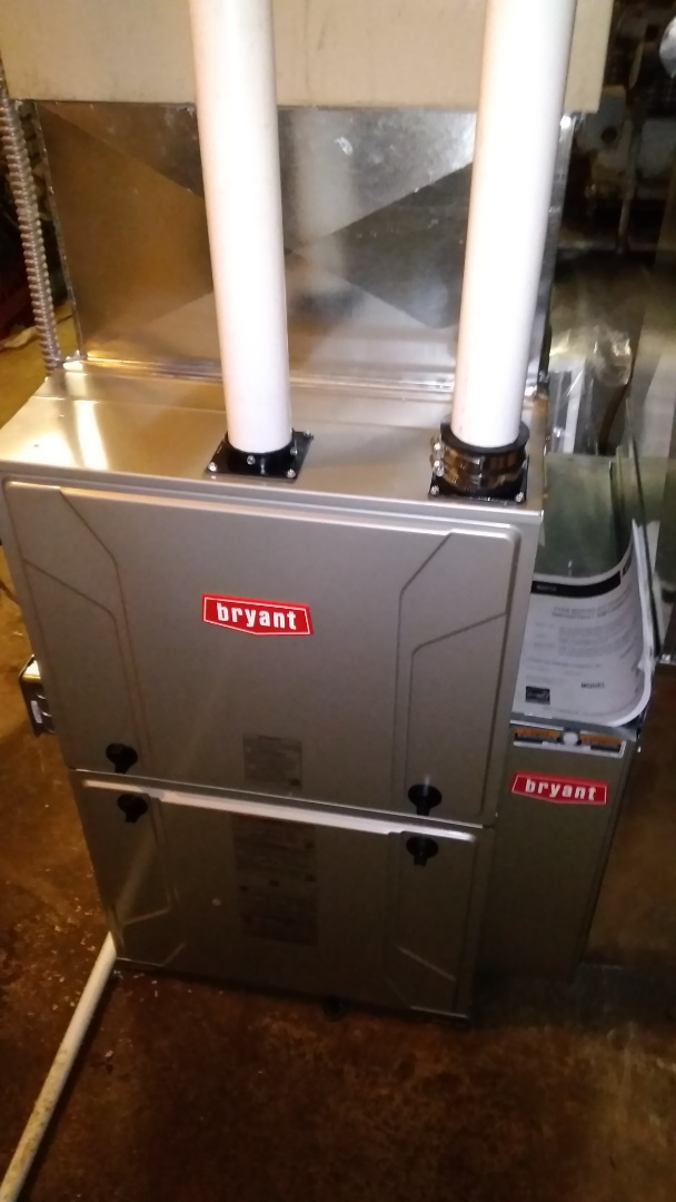 Holly, MI - Installed a hundred thousand BTU Bryant furnace 90% efficient
