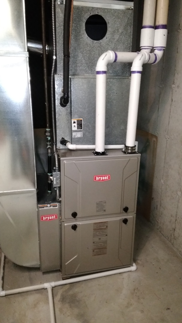 Commerce Charter Township, MI - Install a hundred thousand BTU Bryant furnace 90% efficient
