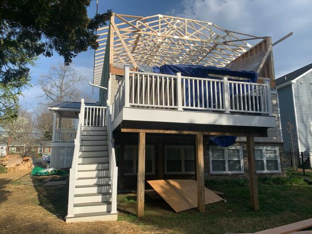 Edgewater, MD - Framing a Second Story Addition