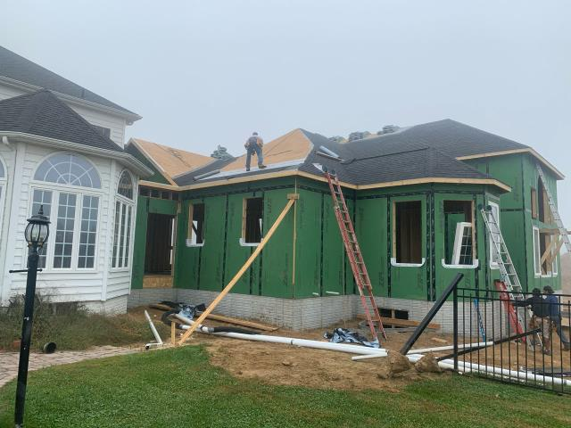 Glenwood, MD - Roof Phase of a Large Addition