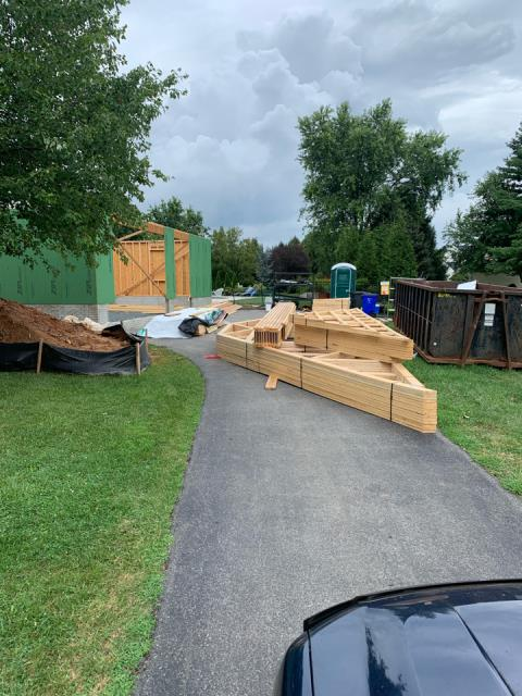 Glenwood, MD - Roof Trusses Delivered to a Multiple Project Job.