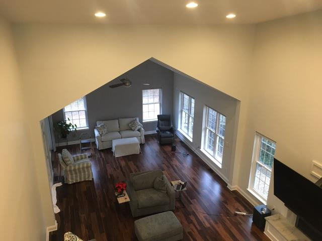 Pikesville, MD - Upstairs view of a Family Room Addition