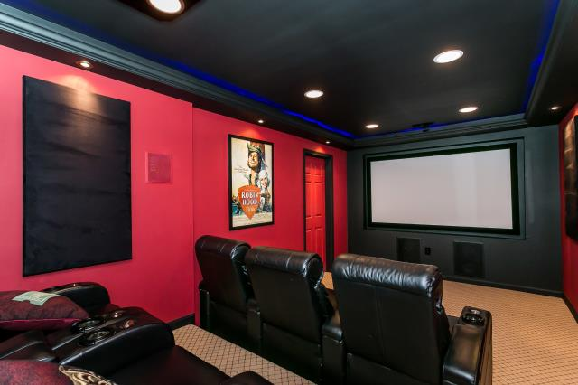 Owings Mills, MD - Home Theatre in a Basement Remodel