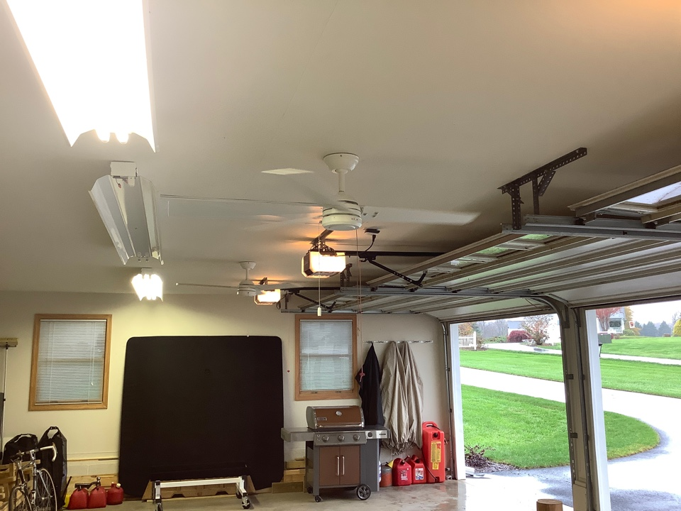 Orange, VA - Installed boxes and wires up ceiling fans in garage