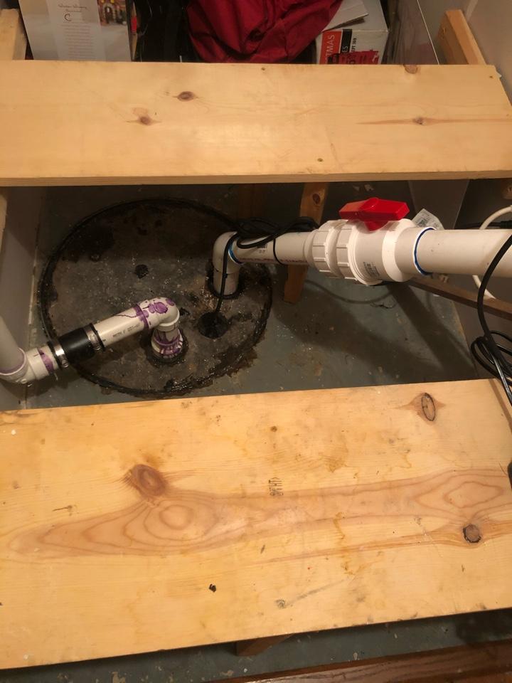 Replaced sewage pump in Culpeper