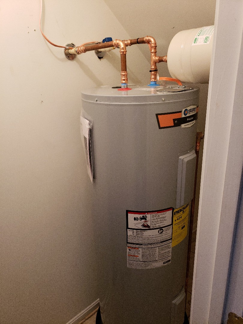 Installed new water heater 50 gal