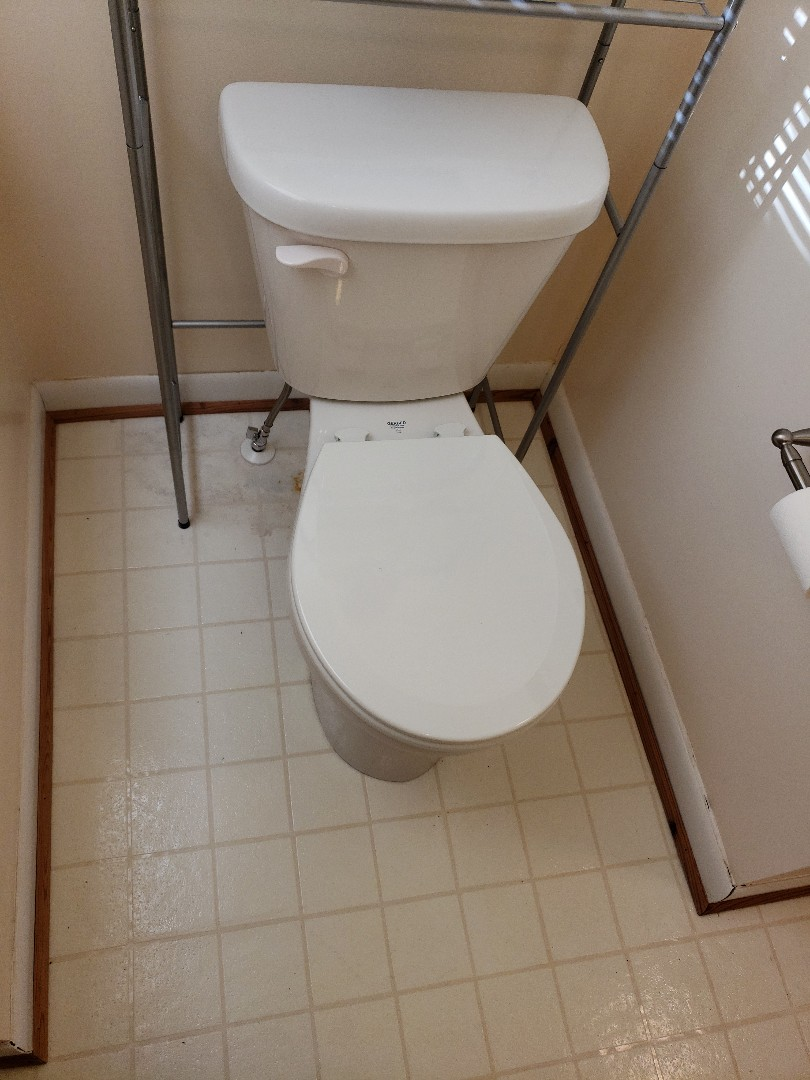 Installed new toilet and shut off valve