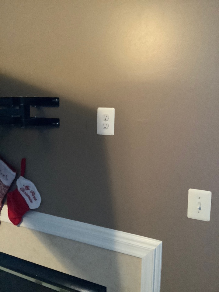 Stafford, VA - Install outlet above fireplace