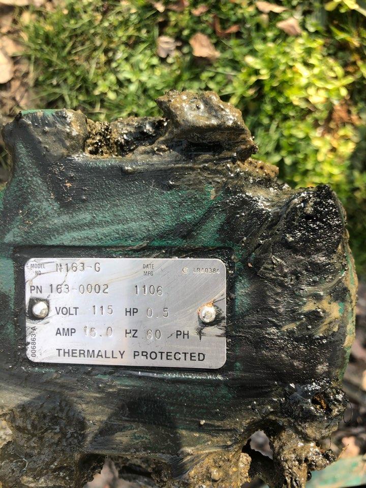 Stafford, VA - Replaced sewage pump in Stanford Va