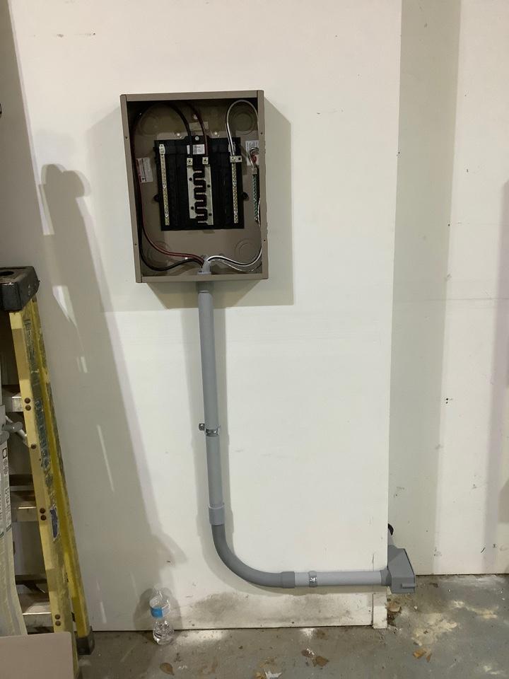 Warrenton, VA - Run power for and install subpanel in garage in warrenton