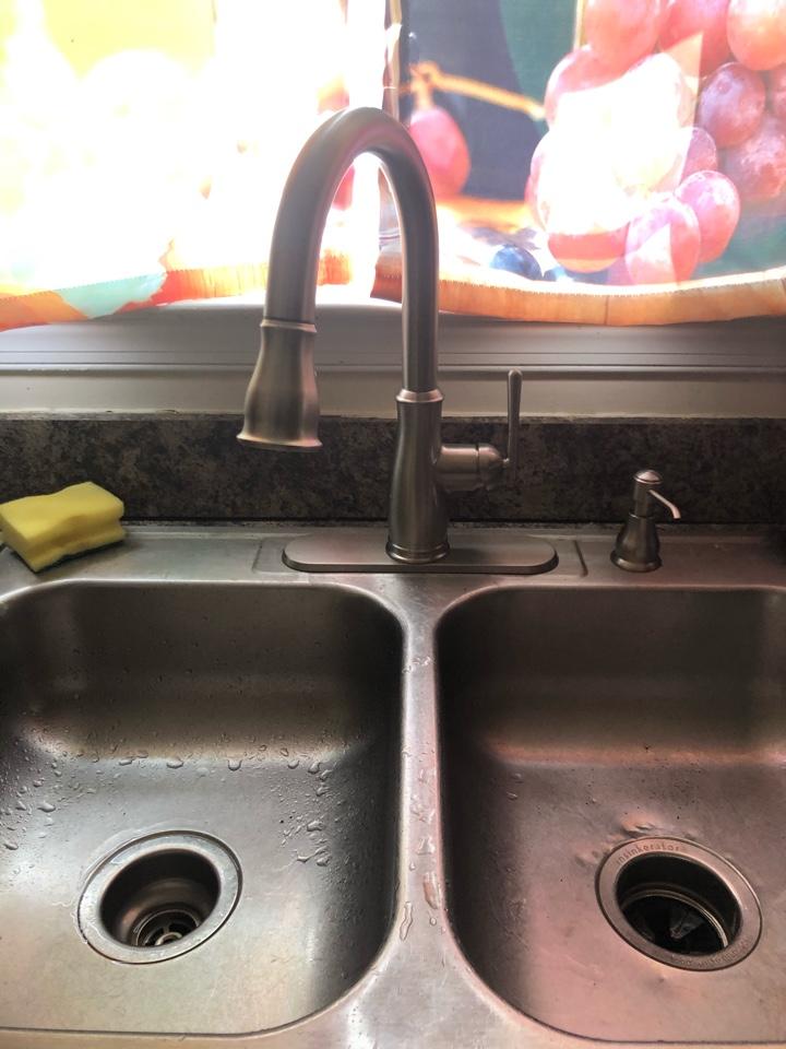 Stafford, VA - Installed customer supplied faucet.