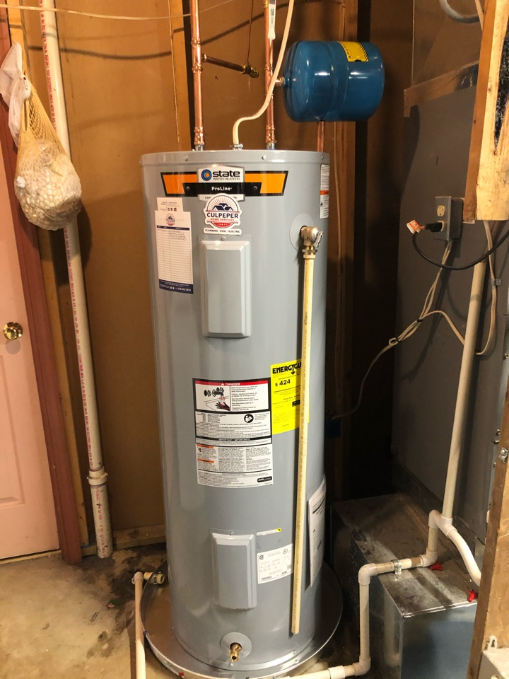 Stafford, VA - Installed toilet and water heater in Stafford