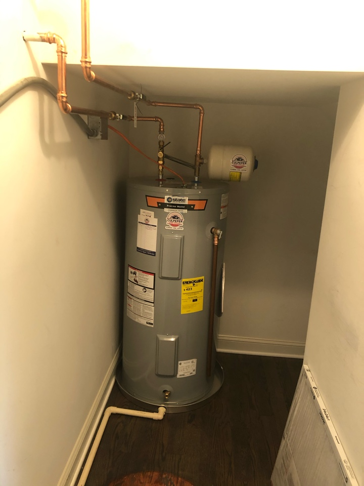 Supplied a d installed new 50 gal electric water heater in Fawn Lake