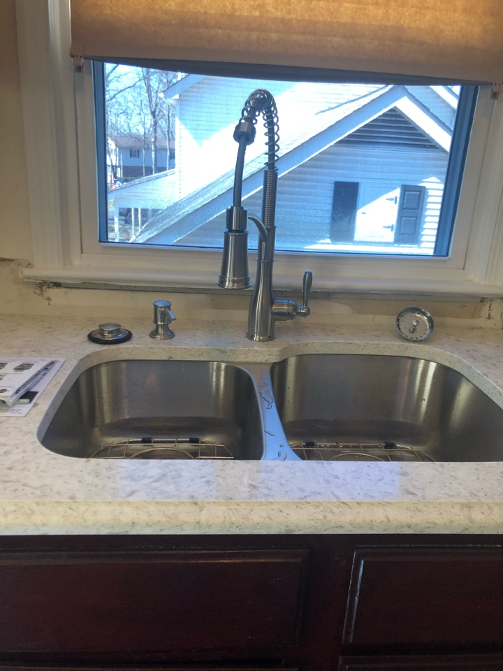 Stafford, VA - Installed customer supplied faucet and disposal in Stafford