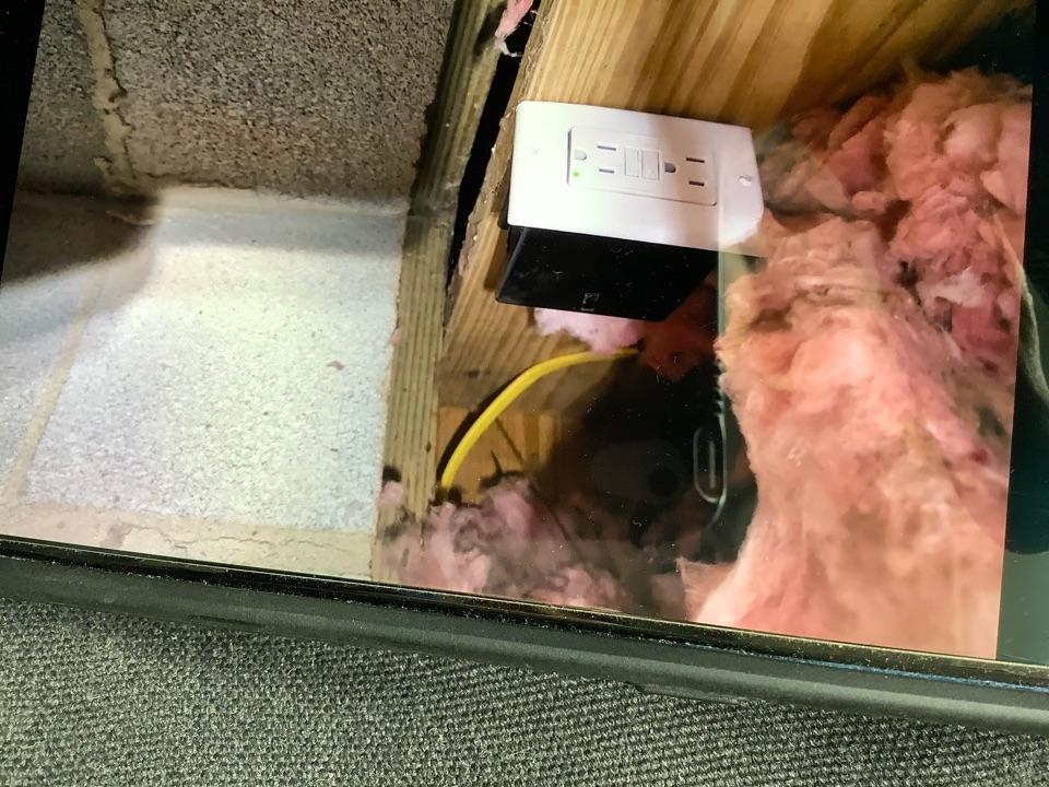 Madison, VA - Ran dedicated circuit for sumpump in crawl space