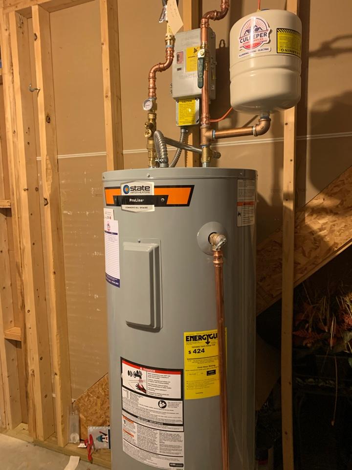 Locust Grove, VA - Replaced water heater in Locust Grove