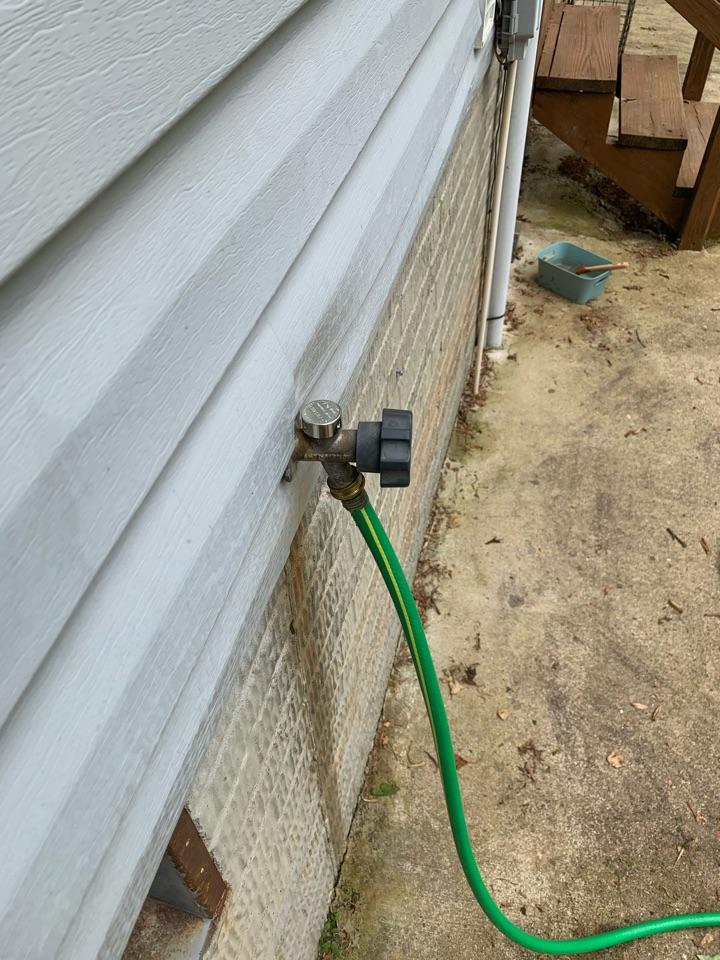 Repaired hose bib in Culpeper
