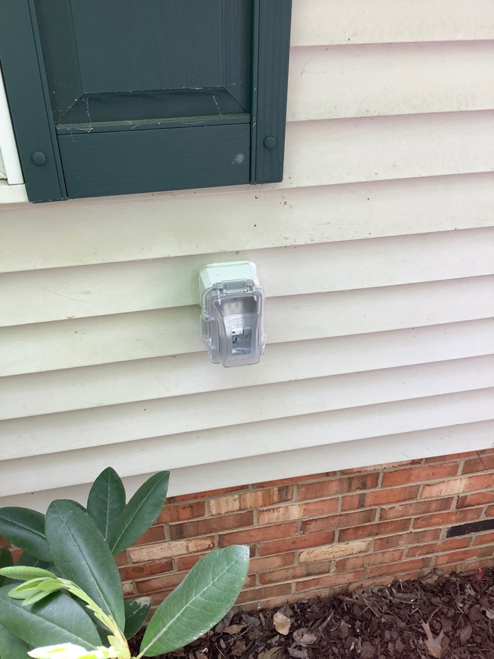 Added outlet on outside of house
