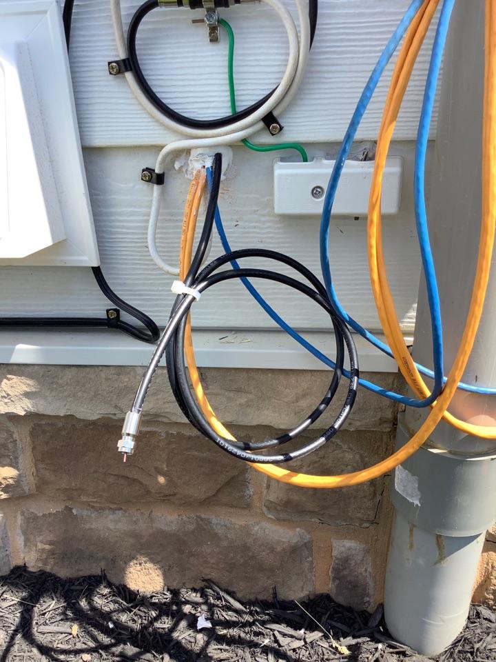 Zion Crossroads, VA - Ran new coax cable outside for internet