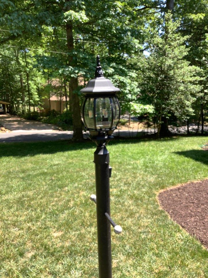 Locust Grove, VA - Installed new post light fixture