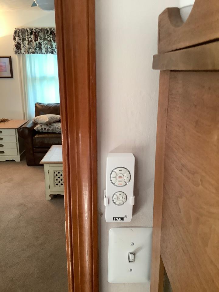 Install fan sensor and remote on fan