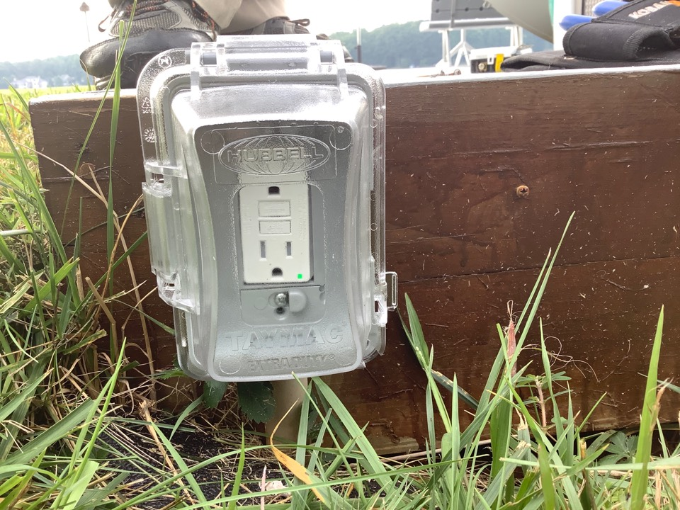 Locust Grove, VA - Installed new gfci outlet and cover