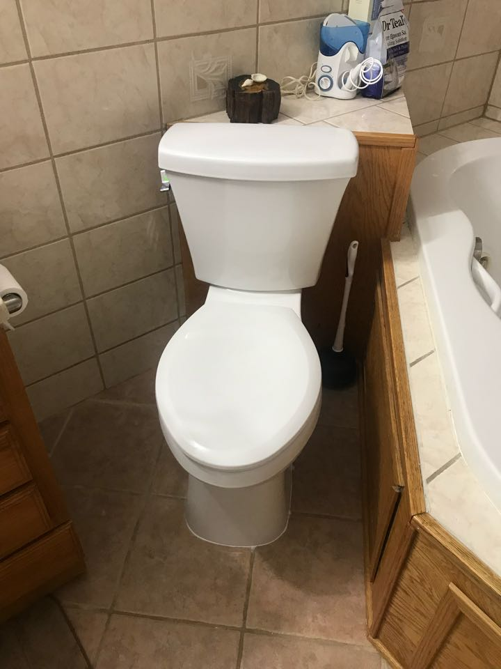 Replaced toilet