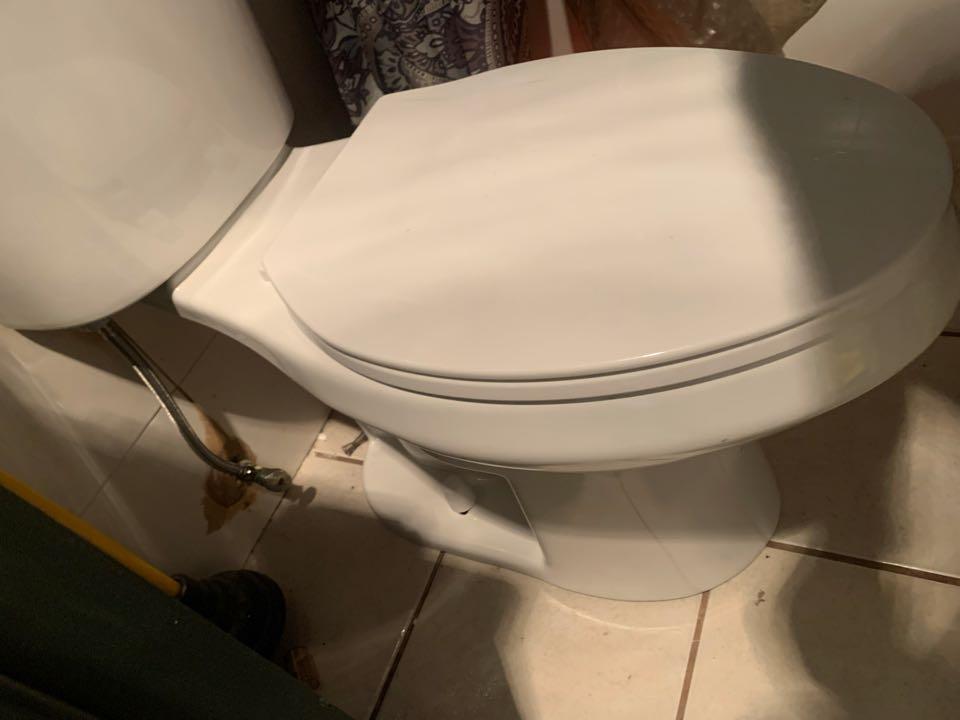 Installed customer supplied toilet