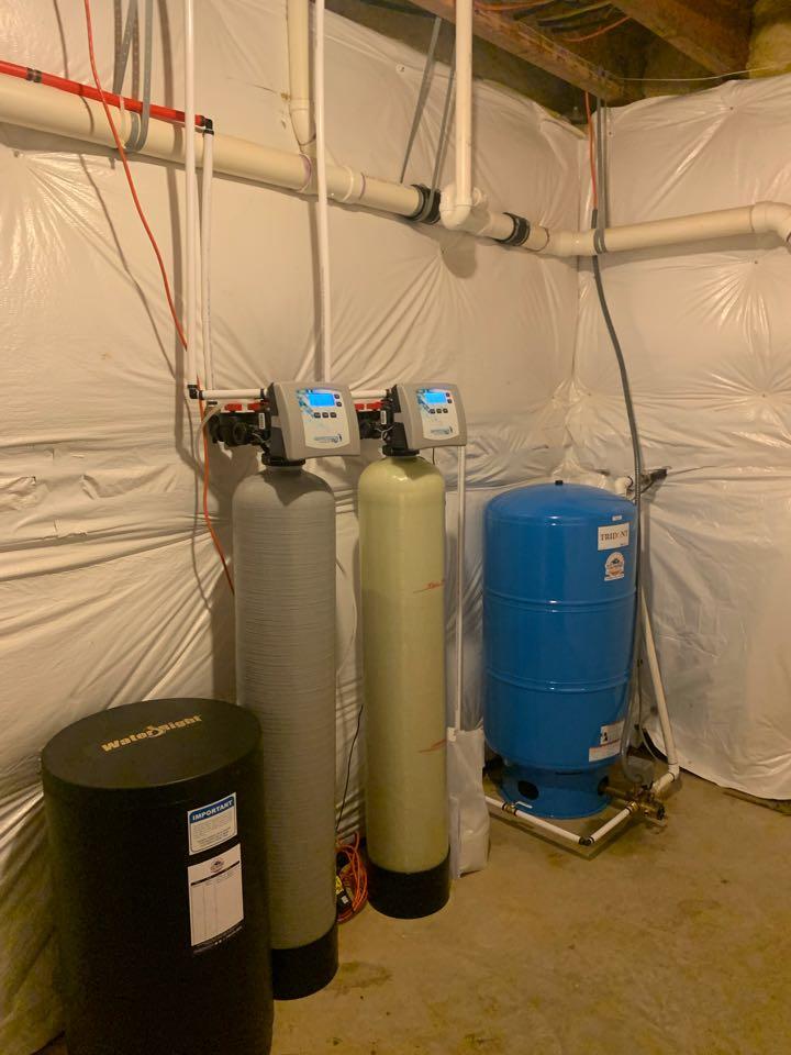 Locust Grove, VA - installed a new 65 gallon pressure tank, water softener & acid neutralizer in Locust Grove