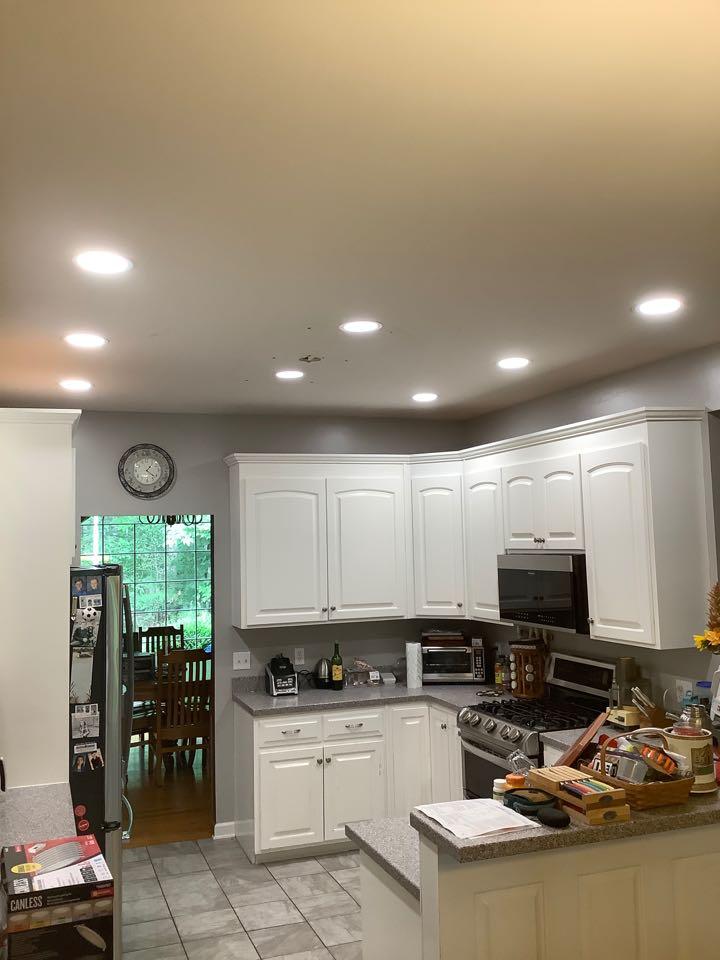 Installed led wafer lights