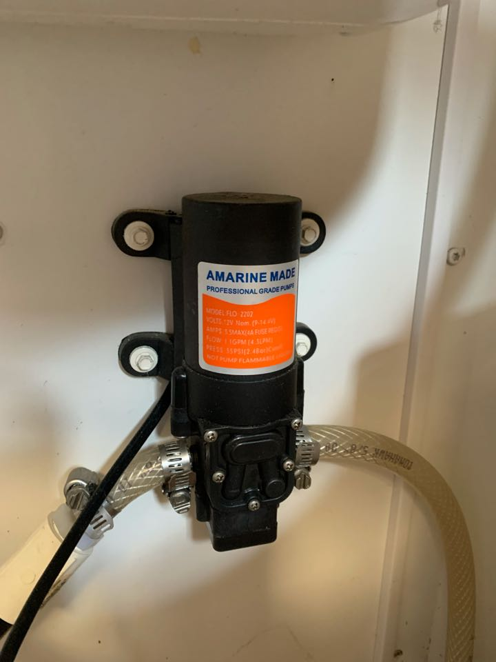 Installed a customer supplied water pump