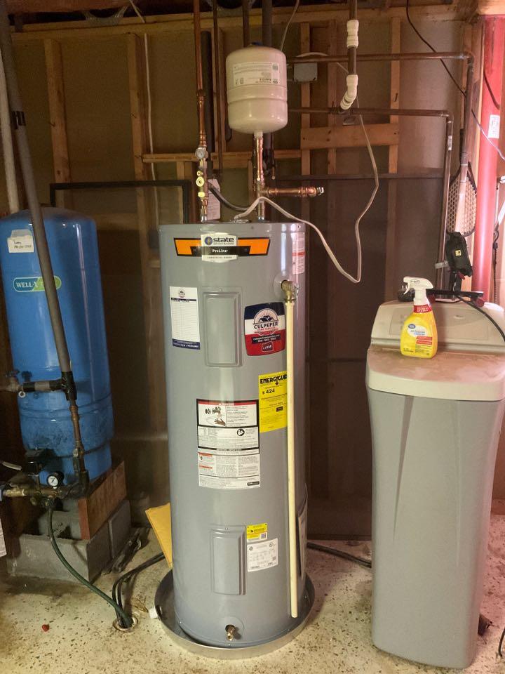 Installed water heater