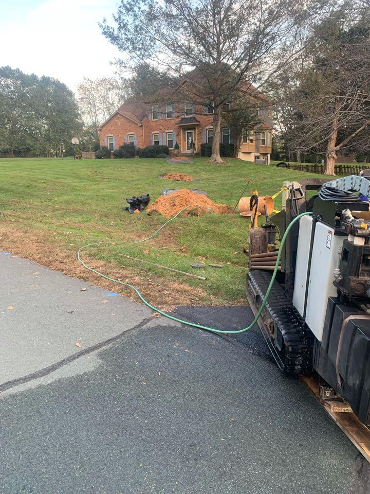 Jeffersonton, VA - Water service replacement in Jeffersonton