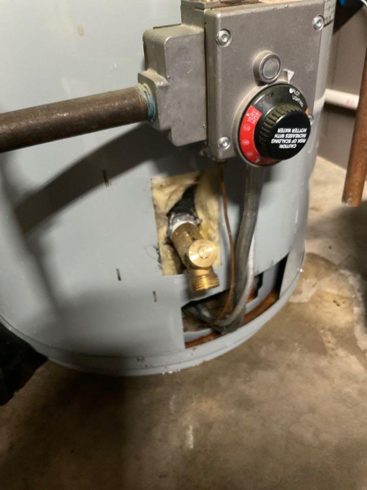 Amissville, VA - Replaced customer supplied boiler drain